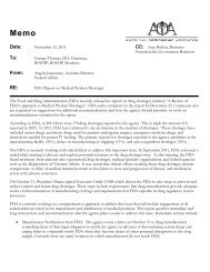 FDA Drug Product Shortage Report - BFHP