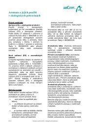 Aromata a jejich použití v ekologických potravinách - Abcert