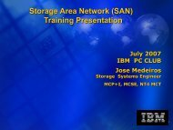 SAN user group presentation - San Jose IBM PC Club Home Page