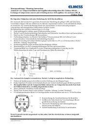 Montageanleitung Fühler und Kapillarrohrschaltgeräte Gehäuse B ...