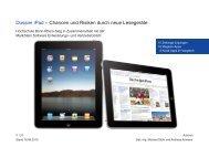 Dossier iPad – Chancen und Risiken durch neue Lesegeräte