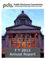 FY 2012 Annual Report - Public Disclosure Commission