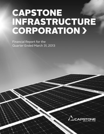 Download PDF - Capstone Infrastructure Corporation