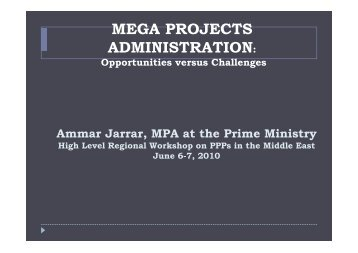 MEGA PROJECTS ADMINISTRATION: