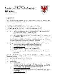 LIBANON - Brandenburgisches Oberlandesgericht