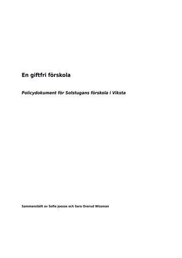 Pdf-dokument: Handlingsplan för en giftfri förskola - Svt