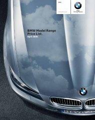 BMW Model Range Price List. - BMW South Africa