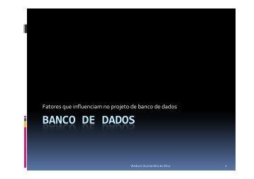 BANCO DE DADOS - Assembla