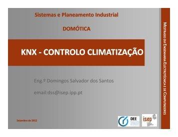 KNX - CONTROLO CLIMATIZAÇÃO CONTROLO CLIMATIZAÇÃO