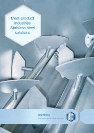 Meat product industries Stainless steel solutions - Ugitech