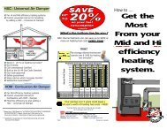 Get the Most From your Mid and Hi efficiency heating system. - Hoyme