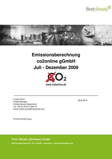 Emissionsberechnung co2online gGmbH Juli - Dezember 2009