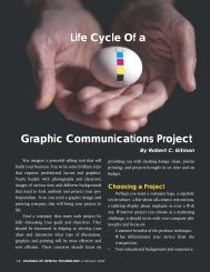 Graphic Communications Project Life Cycle Of a