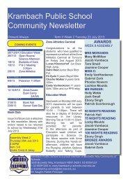 Term 3 Week 2 23July 2013 - Krambach Public School
