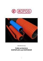 Cable protectors KOPOFLEX and KOPODUR