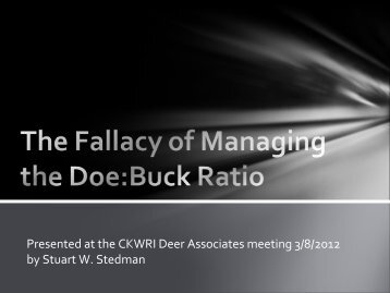 The Fallacy of Managing the Doe:Buck Ratio