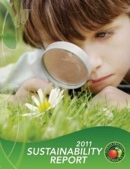 SuStainability RepoRt - Earth Friendly Products