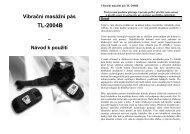 Vibrační masážní pás TL-2004B – Návod k použití