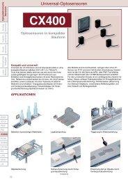 Datenblatt CX400 - Panasonic Electric Works Austria GmbH