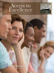 Access to Excellence - Holland America Line