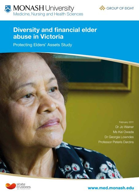 Diversity and financial elder abuse in Victoria - State Trustees