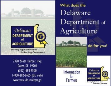 Delaware Agricultural Consumer Guide/ Farm Booklet