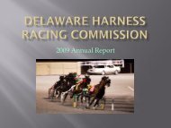 2009 Annual Report - Delaware Department of Agriculture - State of ...