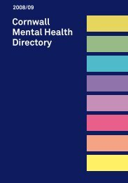 Cornwall Mental Health Directory - Health Promotion Cornwall