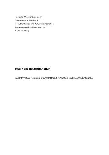 MUSIK ALS NETZWERKKULTUR - KOMPLETT wiki ... - cloudbreak.de