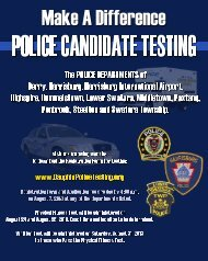 Police Candidate Testing - Dauphin County