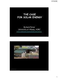 THE CASE FOR SOLAR ENERGY