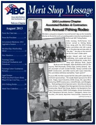 August 2013 Newsletter - ABC