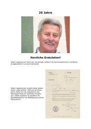 Albert Hagenbucher feiert sein 25-jähriges Jubiläum - auf Humlikon.ch