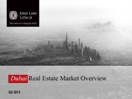 JLL_Dubai Real Estate Market Overview - Q2 2013 - IIR Middle East