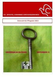 EV. APOSTEL-JOHANNES-KIRCHENGEMEINDE