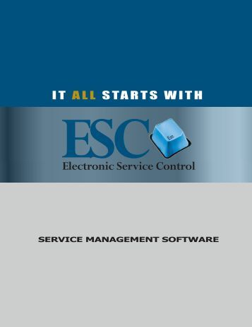 ESC Service Management Software Brochure