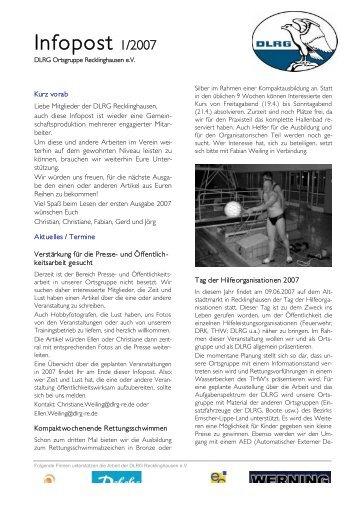 Infopost 2007-01 - DLRG Recklinghausen