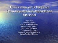 Transiciones en la fragilidad De la robustez a la dependencia ...