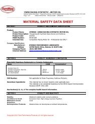 MSDS - SynMax Performance Lubricants