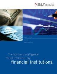 Download SNL Financial Institutions brochure