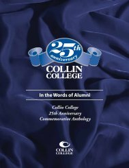 In the Words of Alumni - Collin College