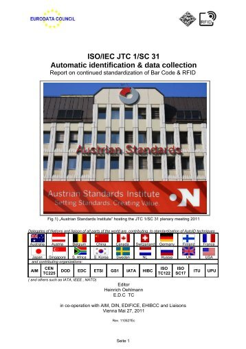 ISO/IEC JTC 1/SC 31 Automatic identification ... - eurodata council