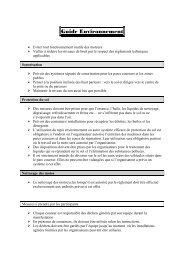 Guide Environnement - FFM