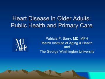 Heart Disease in Older Adults: Public Health and Primary Care