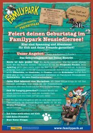 Party ohne Betreuung - Familypark Neusiedlersee