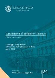 Supplementi al Bollettino Statistico - Banca d'Italia