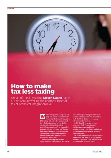 How to make tax less taxing - ICAEW