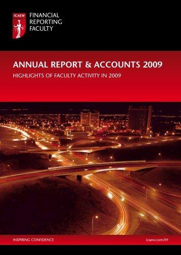 ANNUAL REPORT & ACCOUNTS 2009 - ICAEW