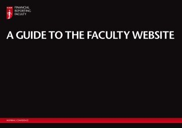A Guide to the fAculty website A Guide to the fAculty website - ICAEW