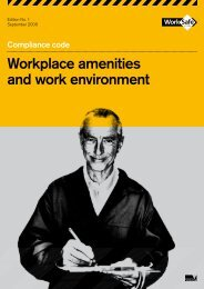 Workplace amenities and work environment - WorkSafe Victoria
